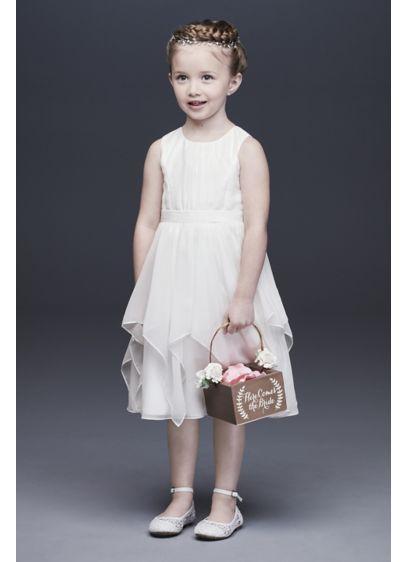 ad504fae2 Chiffon Flower Girl Dress with Large Bow Sash   David's Bridal