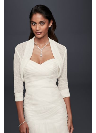 David's Bridal Ivory (Pleated Tulle Shrug)
