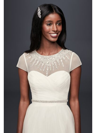 David's Bridal Ivory (Deco Beaded Dress Topper)