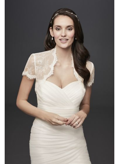 Short Sleeve Lace Bolero - Wedding Accessories
