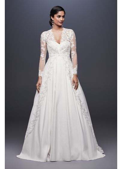 Long Tulle Jacket With Fl Lace Lique Ow2115 Ivory Soft Flowy David S Bridal Bridesmaid Dress