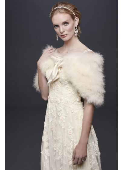 Soft Feather Wrap - Wedding Accessories