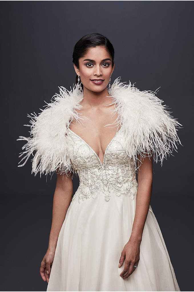Ostrich Feather Shrug - Add instant glamour to your dress with this