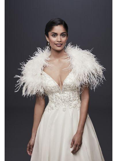 4f19efe446924 Ostrich Feather Shrug | David's Bridal