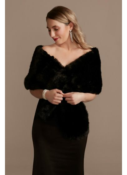 Pull-Through Faux-Fur Shoulder Wrap - Add a luxe touch to your formal look