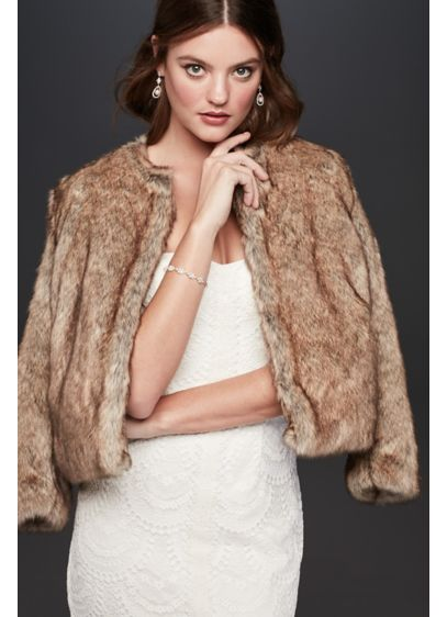 Faux-Fur Long Sleeve Jacket - Wedding Accessories