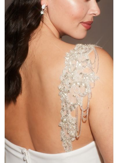 Allover Beaded Applique Detachable Straps - Give any strapless or spaghetti strap dress a
