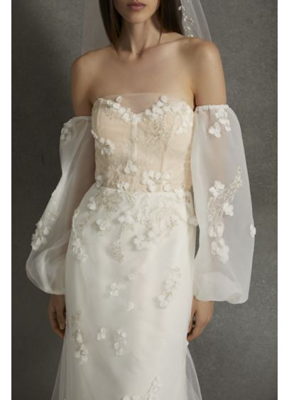 White by Vera Wang Ivory (White by Vera Wang Removable Embellished Sleeves)