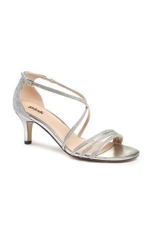 Pink Paradox Grey;Yellow (Isla Delicate Thin Strap Metallic Low Heel Sandals)