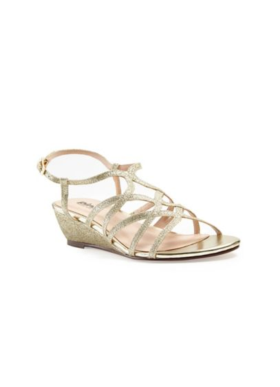 Pink Paradox Yellow (Opulent Crisscross Strappy Low Wedge Sandals)