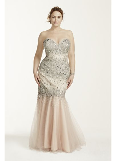 Long Mermaid/ Trumpet Strapless Formal Dresses Dress - Terani