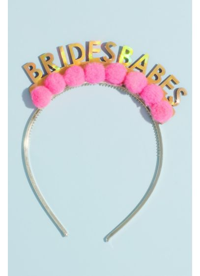 Metallic Brides Babes Pom-Pom Headband - Hey bride tribe, get ready to celebrate! Show