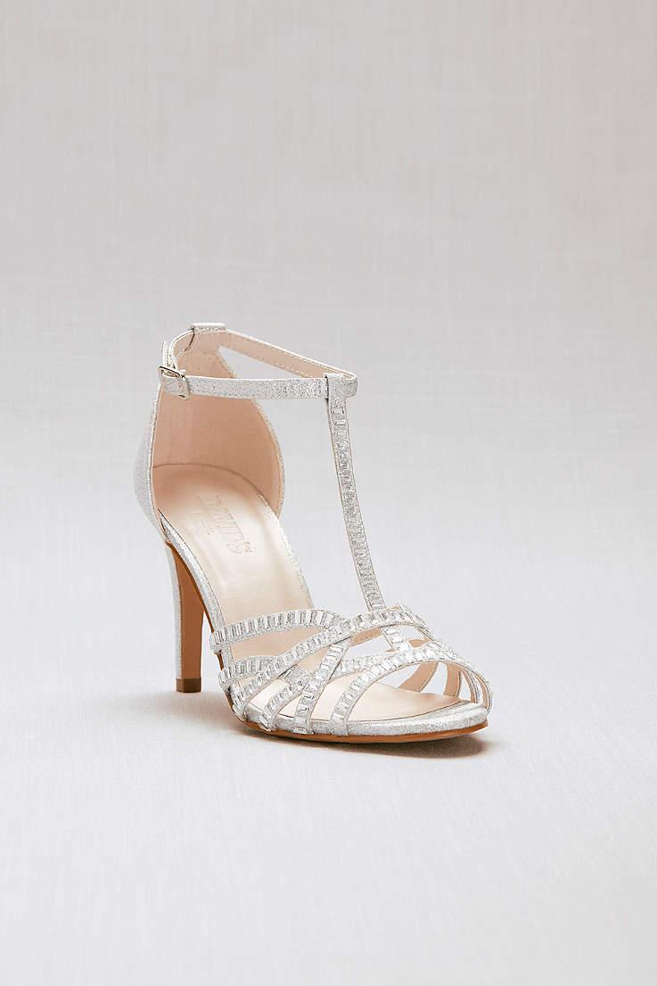 Women S Silver Heels Dress Shoes For Weddings Prom