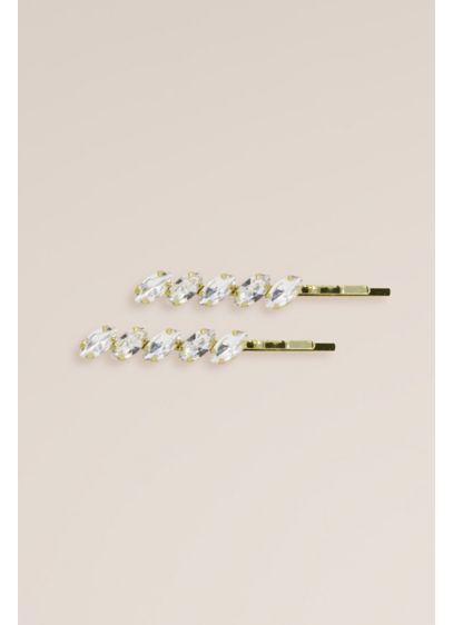 Linear Marquise Swarovski Crystal Bobby Pin Set - Wedding Accessories