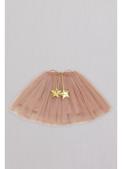 Star Embellished Tulle Flower Girl Tutu Skirt - This celestial skirt is crafted of tulle and
