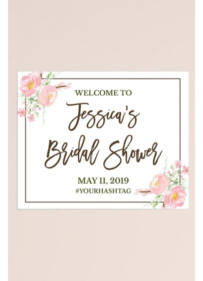 Floral Personalized Bridal Shower Welcome Sign - Welcome guests to the bridal shower with this