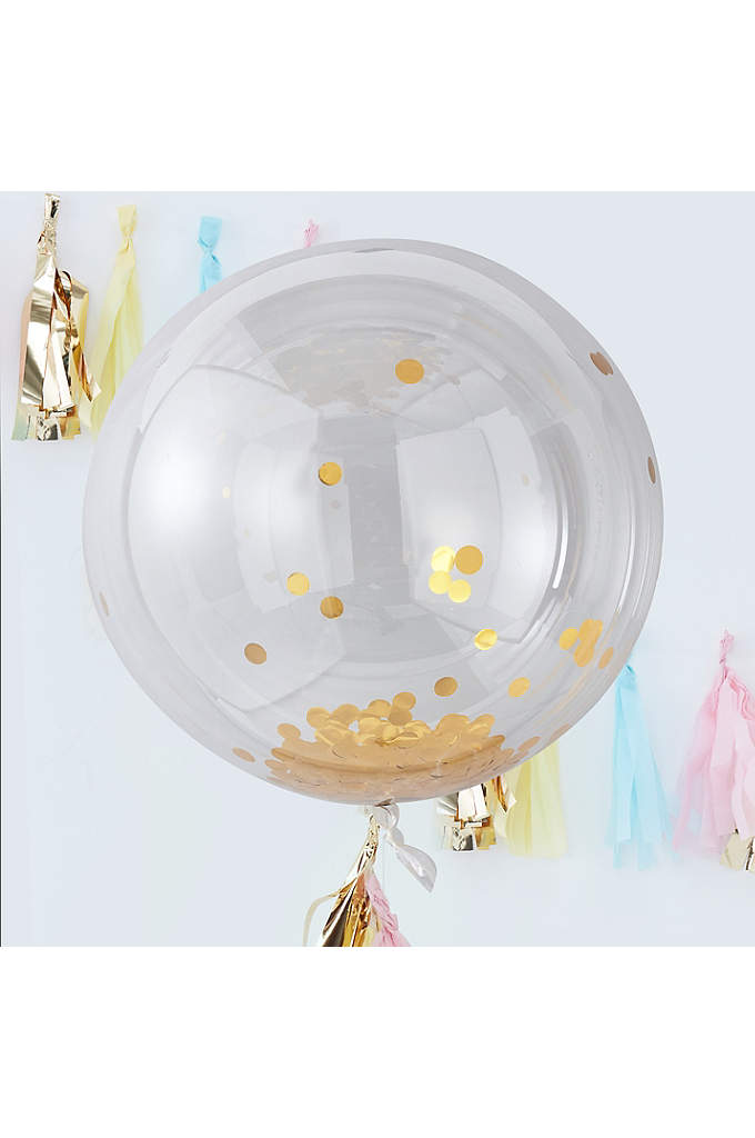 36 Inch Confetti Orb Balloon Pack of 3 - These Confetti Orb Balloons will be the highlight