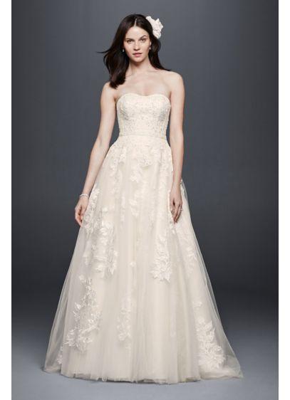 Long Ballgown Romantic Wedding Dress - Priscilla of Boston