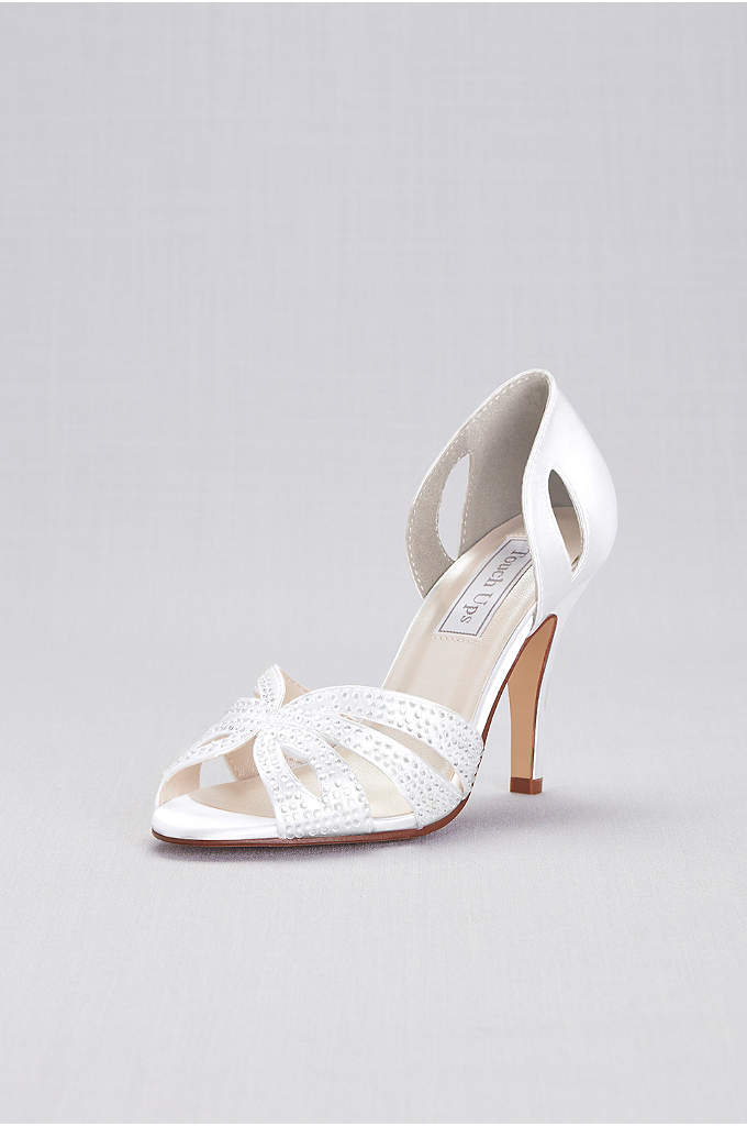 Dyeable Jeweled dOrsay Pump by Touch Ups - Adding an extra touch of glam to your