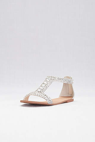 Ladies Womens Metallic Shimmer Ankle Wrap Tie Flat Sandals Size 3 4 5 6 7 8