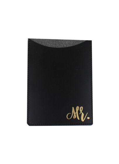 Mr Passport Holder - Embossed in gold, this Mr. Passport Holder is