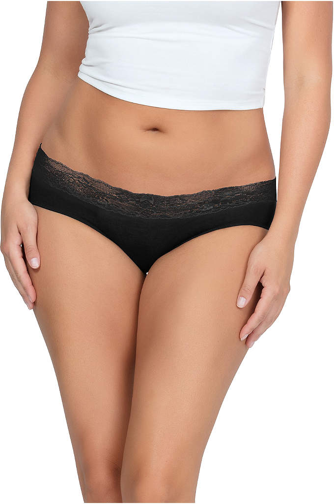 Parfait So Essential Hipster - Scalloped lace trim and comfy modal combine to