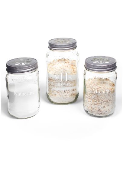 Personalized Mason Jar Sand Ceremony Set - Wedding Gifts & Decorations