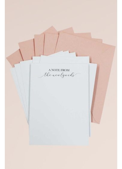 A Note From the Newlyweds Card and Envelope Set - Wedding Gifts & Decorations