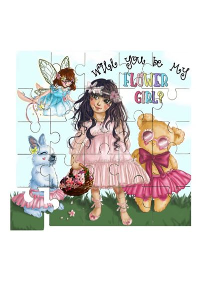 Flower Girl Puzzle - This adorable wood puzzle reads
