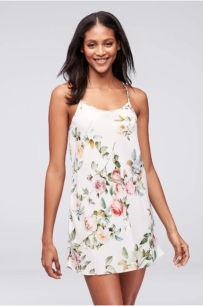 Flora Nikrooz Abigail Chemise - This chiffon cross-back chemise blooms with a photographic