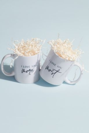 I Love You More and Most Couples Mug Set