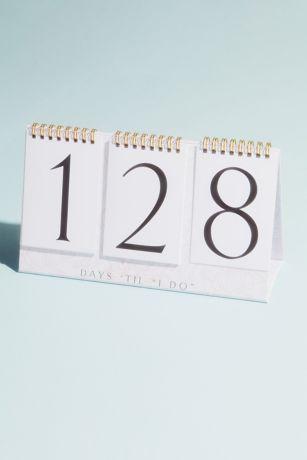 Days Til I Do Wedding Countdown Flip Calendar