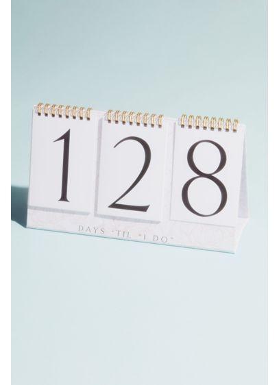 Days Til I Do Wedding Countdown Flip Calendar - Wedding Gifts & Decorations