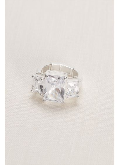 David's Bridal Grey (Emerald Multiple Stone Ring)