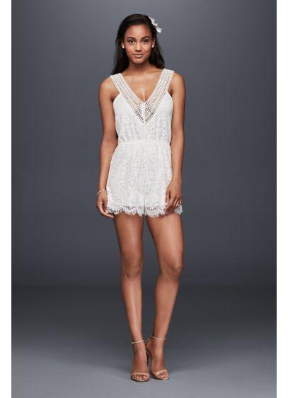 Short Jumpsuit Beach Wedding Dress - Raga