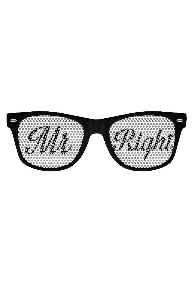 Mr Right and Mrs Always Right Party Sunglasses - Never loose an argument again with these Mr.
