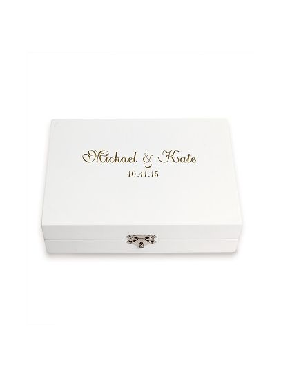 Personalized Ring Bearer Keepsake Box - For the bride looking to combine personalized style