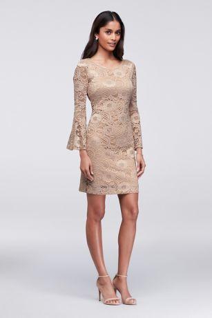 Sheath Long Sleeve Dress