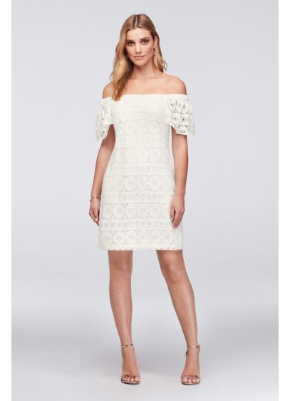 Short Sheath Off the Shoulder Bridal Shower Dress - Robbie Bee