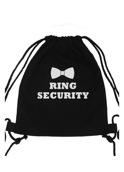 Black (Ring Security Canvas Backpack)