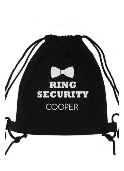 Black (Personalized Ring Security Canvas Backpack)