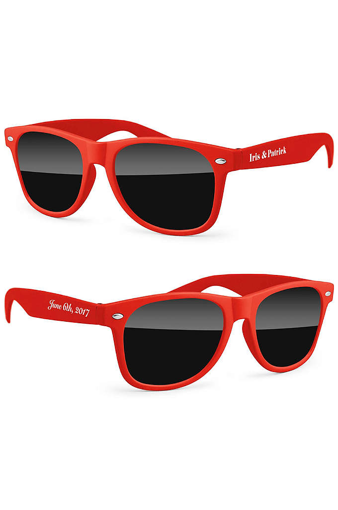 Personalized Retro Party Sunglasses - The Personalized Retro Party Sunglasses can be personalized