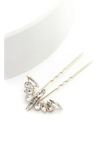 Crystal Plume Hair Pin - Add an art deco vibe to your wedding-day
