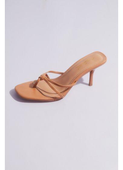 Double Strap Thong Kitten Heel Sandals - Trend alert! The square-toe kitten-heel mule is fashion