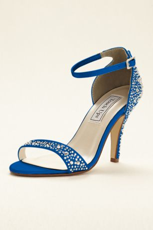 Touch Ups Black;Blue;Grey;Ivory;Pink;Purple;Red;White Sandals (Dyeable Crystal Embellished Sandal by Touch Ups)