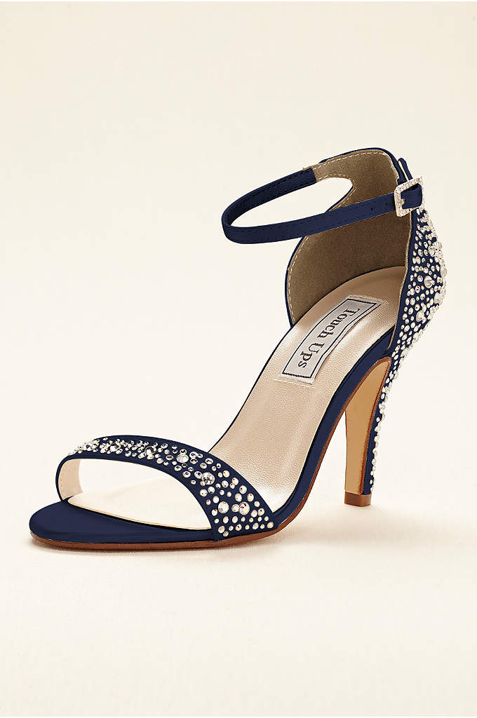 Dyeable Crystal Embellished Sandal by Touch Ups - Make a lasting impression in these stunning multi-colored
