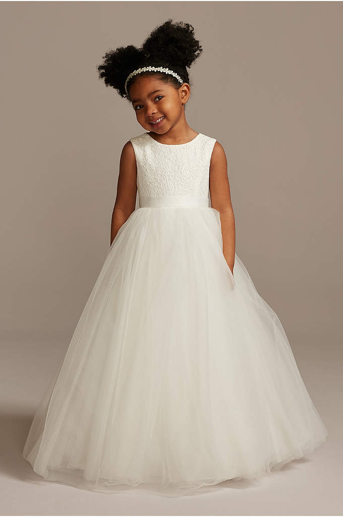 Ball Gown Flower Girl Dress with Heart Cutout - Flower girls will feel like they're living in