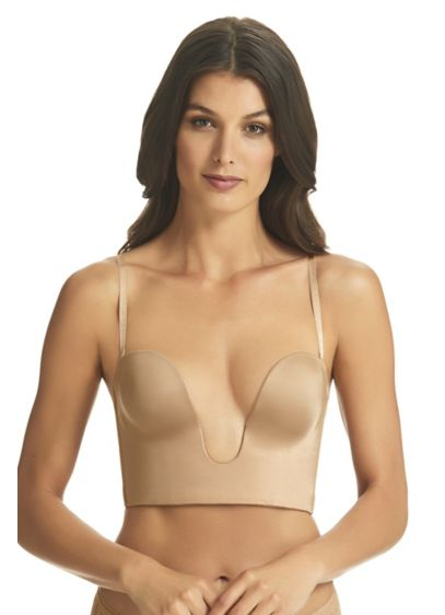 Fine Lines 4 Way Convertible Plunge Bustier Bra - Smooth, sophisticated, and supportive, this U-front bra works