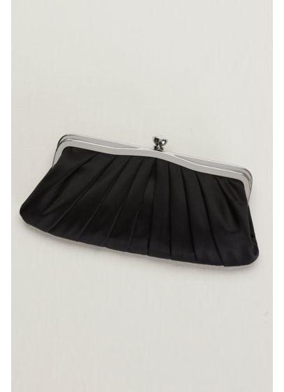 Vintage-Inspired Pleated Satin Clutch - Wedding Accessories