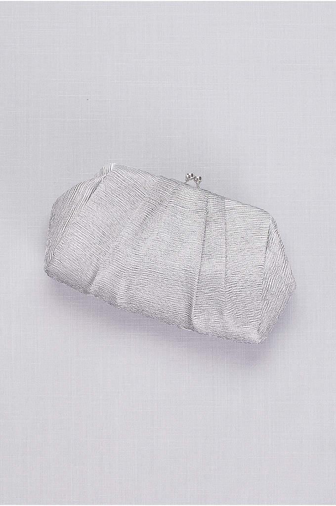Pleated Metallic Jacquard Kisslock Clutch - Pair this pleated metallic jacquard clutch with just